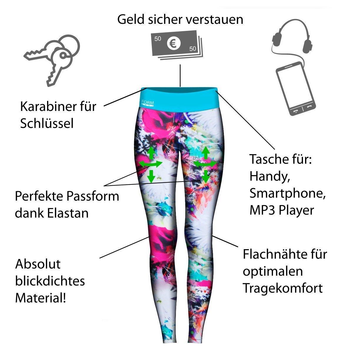 Damen-Laufhose-blumenmuster-Infografik