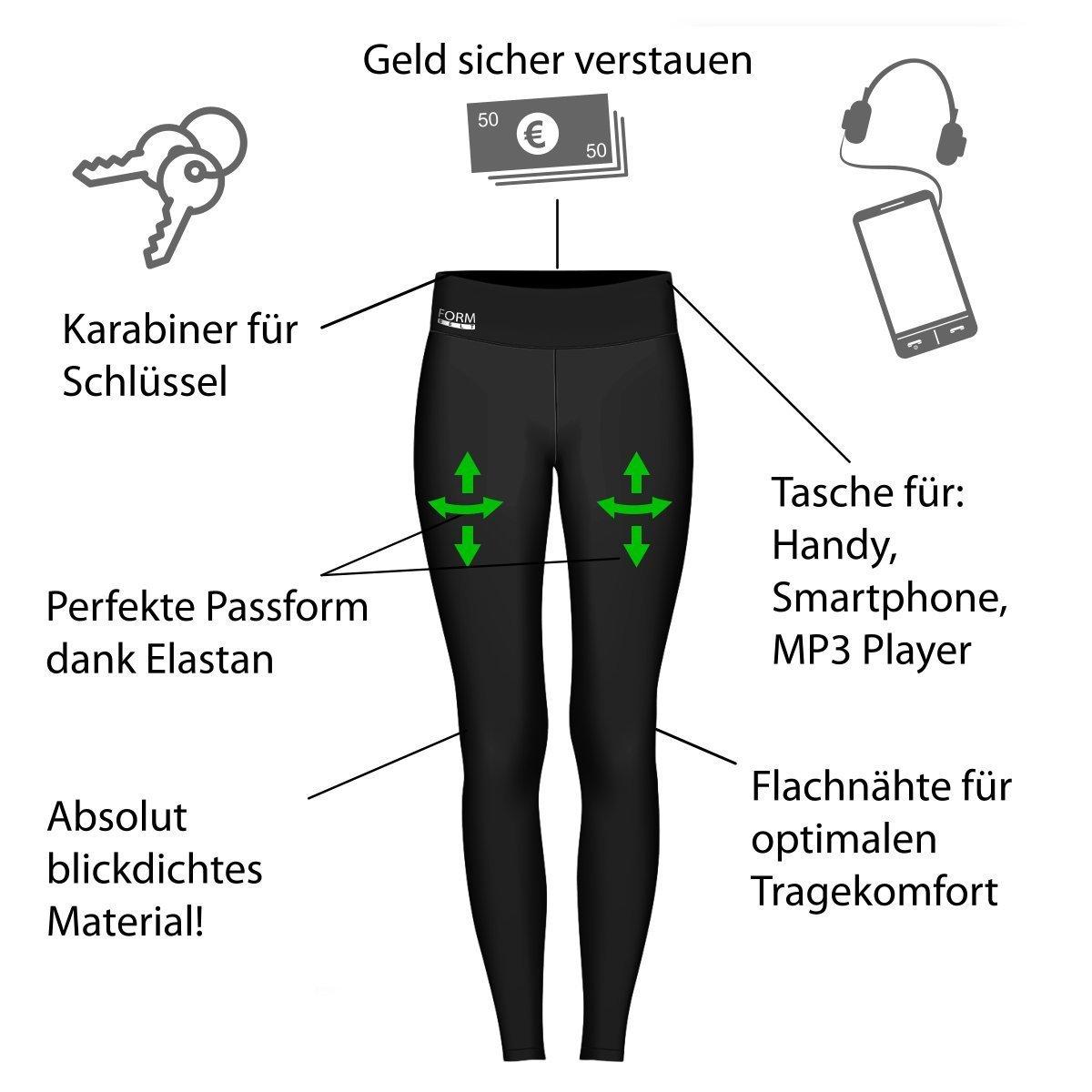 Damen-Laufhose-schwarz-Infografik