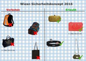 Rucksackverbot Oktoberfest Infografik