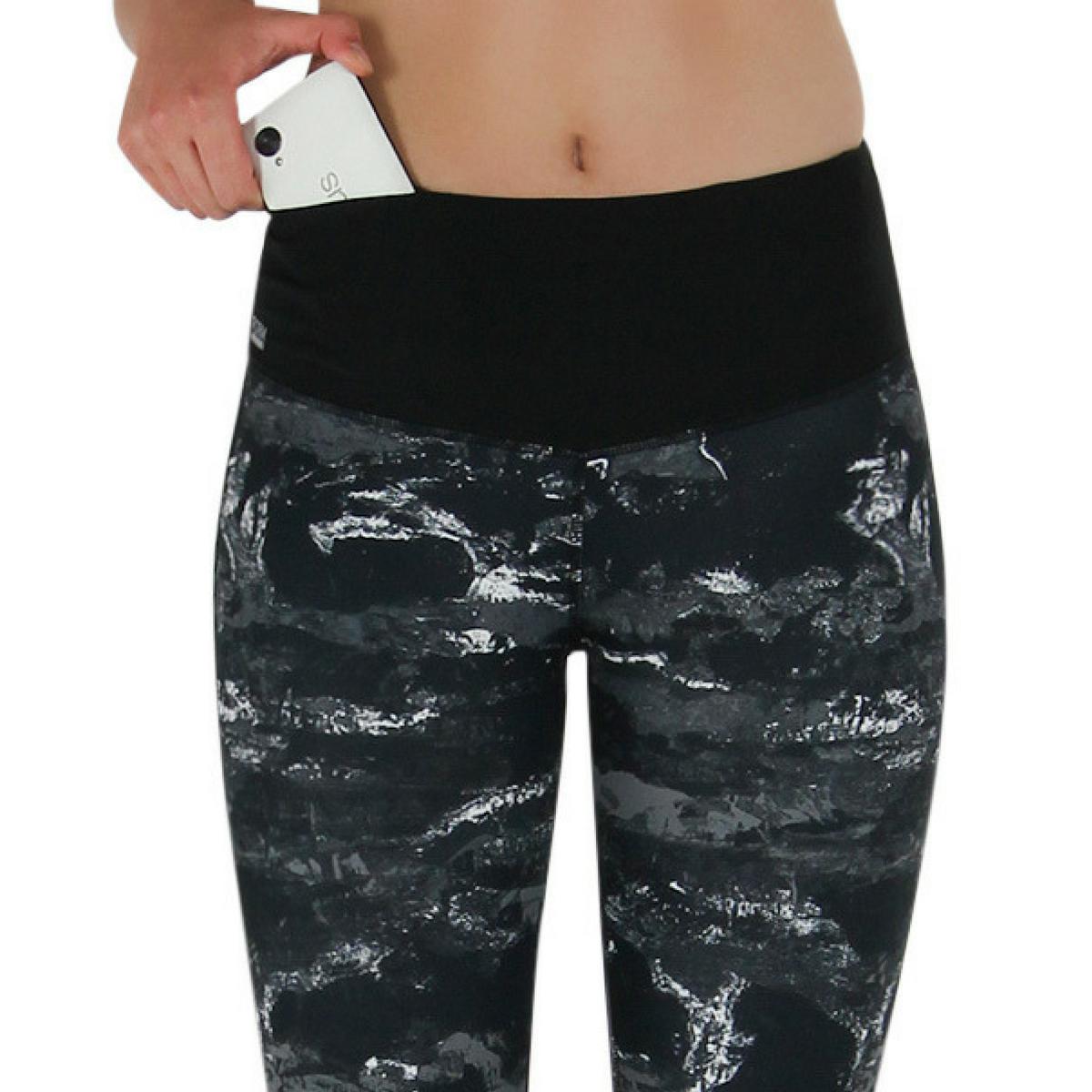 damen sport leggings mit marmormuster taschen online. Black Bedroom Furniture Sets. Home Design Ideas