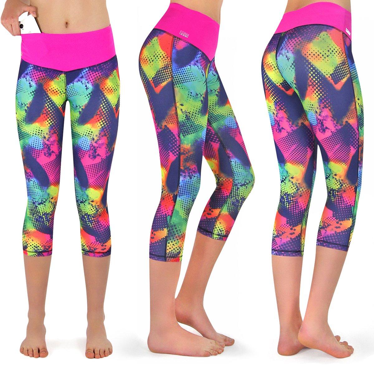 Laufhose Damen capri Leggings, Farbe: brazil