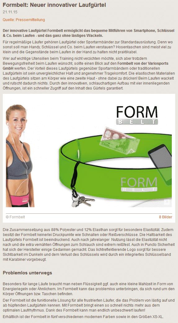Formbelt Presse Marathon 4 you