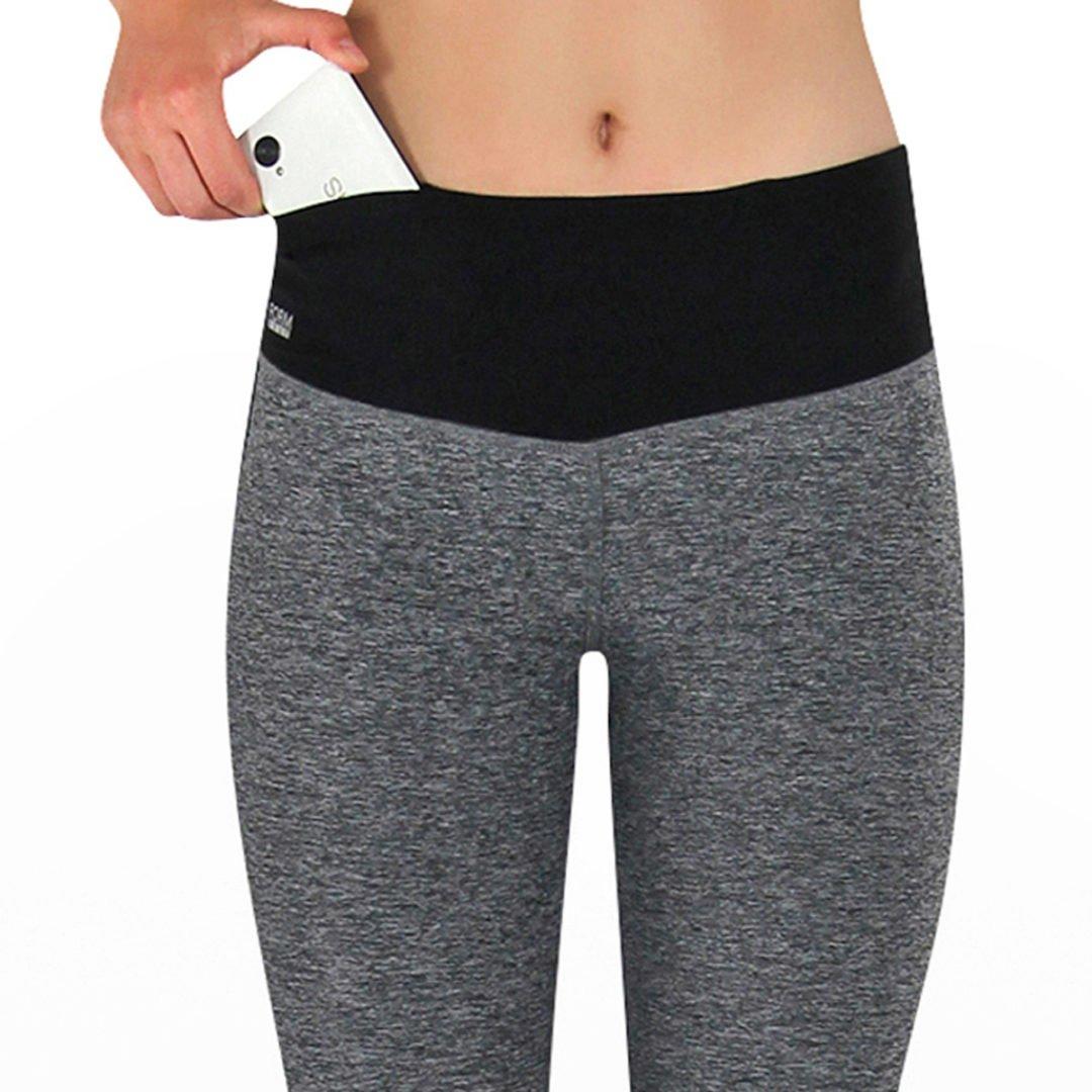 Damen Sport Leggings grau mit Taschen – Online günstig kaufen