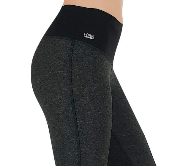 Damen Sport Leggings schwarz-grau mit Taschen für das Handy