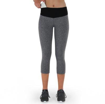 Formbelt-Sport-Leggings-Damen-Capri-dreiviertel-Hüfttasche