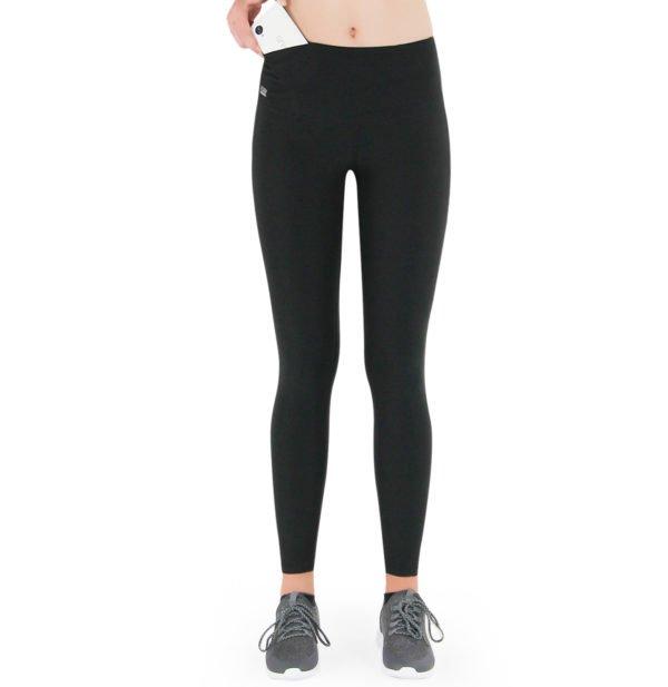 Formbelt-Laufhose-Damen-mit-Taschen-Schwarz