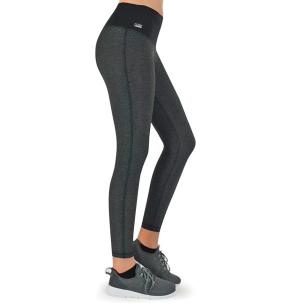 Formbelt-Laufhose-Damen-mit-Taschen-Schwarz-Grau