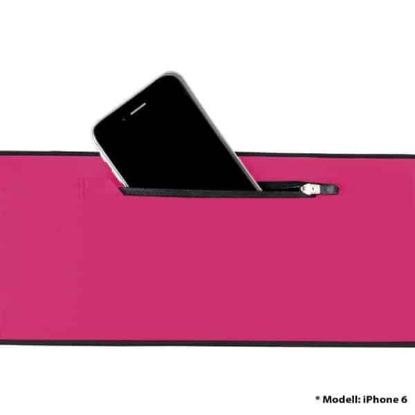 Formbelt Laufgürtel Pink Plus mit Reißverschluss